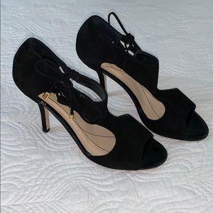 Kate Spade T-strap open toe Suede heels ♠️